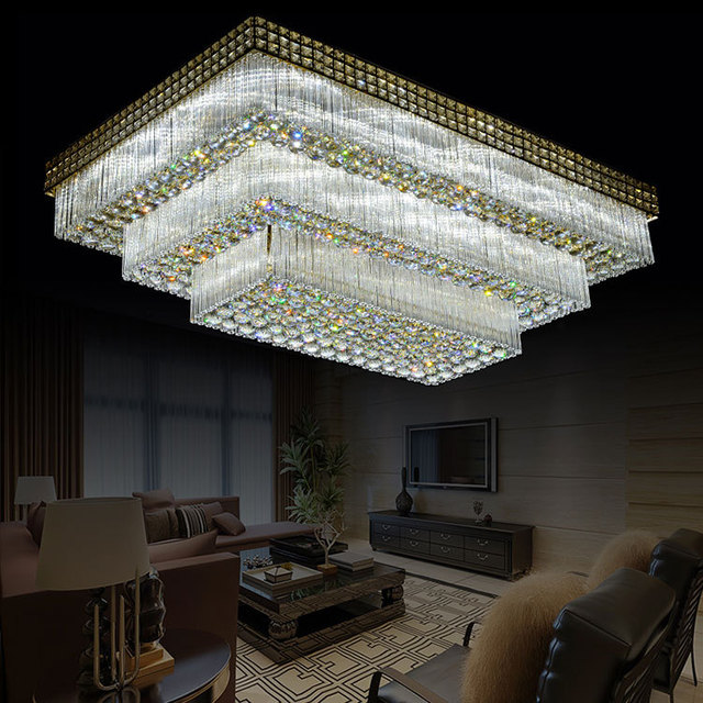 Led Rectangle Bedroom Ceiling Crystal Lighting Lamp Affordable Hall Lampada Home Fixtures Free Shipping