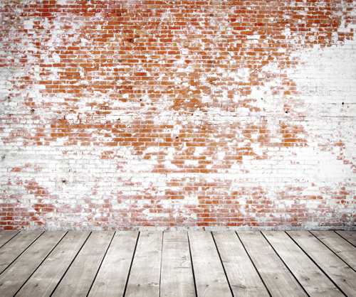 Huayi Red Brick Wall And Wood Floor Photography Background Walls White Photoshoot Backdrop Xt 3098