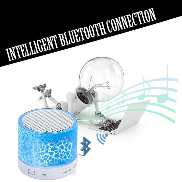 Mini Bluetooth Speakers Wireless LED Hands Free Portable Speaker With TF USB FM Mic Blutooth Music For iPhone 6 7 s Mobile Phone