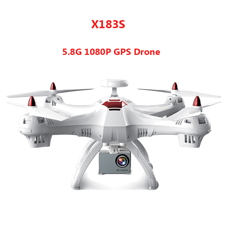 Profissional Drone X183S RC Helicopter DUAL GPS Drone Follow Me Quadcopter with 5.8G 1080P FPV HD Camera RC Racing Quadroopter