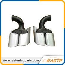 RASTP Оригинал Нержавеющей Стали Выхлопной Совет Глушители Для Porsche Cayenne 2011-2013 LS-CR8089