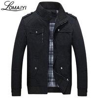 2017 Pure Cotton Men Jacket Spring Autumn Slim Fit Casual Coat Mens Black Khaki Fashion Windbreaker