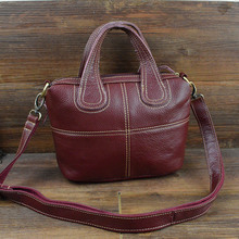 In Field Head Layer Cowhide Oblique Satchel Genuine Leather Hand Bill Of Lading Shoulder Small Ma'am Hand Pull Across Package