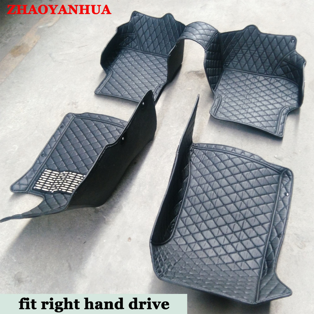 Rubber floor mats nissan sentra 2013 - Custom Fit Right Hand Drive Car Floor Mats For Nissan Sentra Sylphy B16 B17 Altima Qashgai