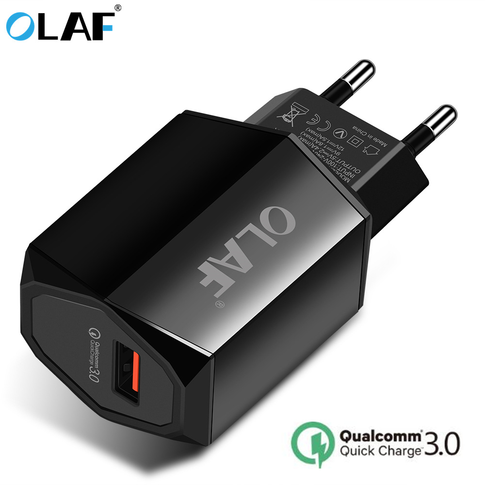 OLAF 2.4A USB Charger Quick Charge 3.0 Fast Charger QC3.0 QC2.0 18W Portable Wall USB Power Adapter Charging for Phone Chargers