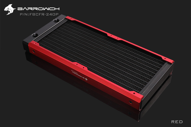 BARROWCH 240 мм радиатор POM/акриловое издание модульный Хамелеон рыбы съемный мульти-красочный FBCFR-240 новое поступление - Цвет лезвия: Red POM