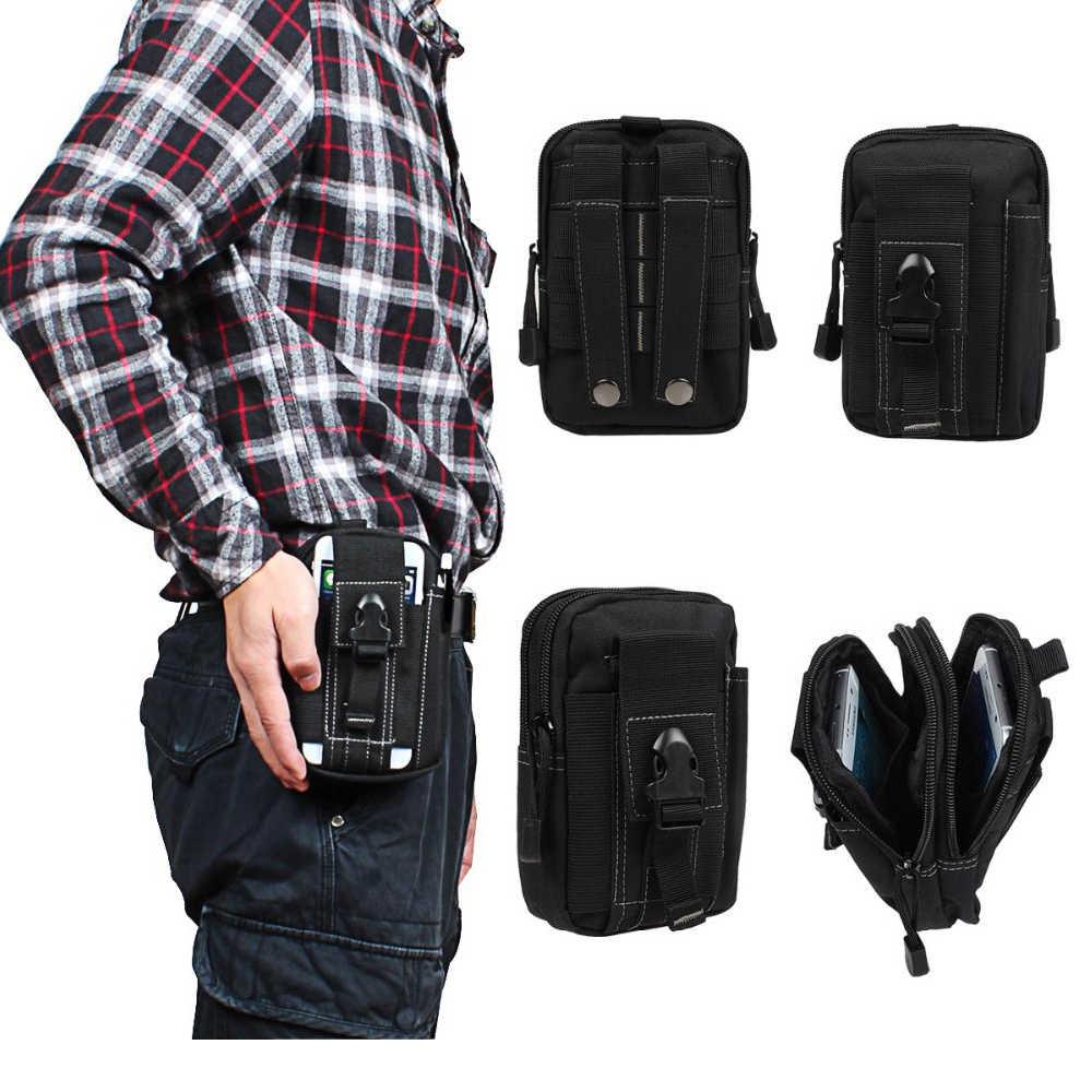 Retro Double Waterproof Tactical Belt Bags Phone Bag Zipper Cover Case For  LG Stylo 4 LG G4 G5 G6 G6 Plus G7 Model Waist Bags