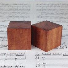 8 pçs rosewood madeira grande alto falante pico à prova de choque isolamento cone suporte pé base almofada 50mm
