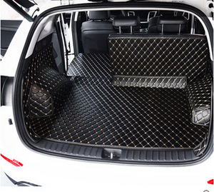 Image 4 - High quality Full set car trunk mats for Hyundai Tucson 2017 waterproof boot carpets cargo liner mat for Tucson 2016