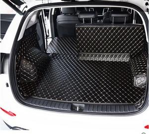 Image 5 - Hyundai Tucson 2017 방수 부츠 카펫 용 고품질 풀 트렁크 매트 Tucson 2016 용 카고 라이너 매트