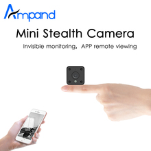 Ampand MINI camera 720P HD IP WIFI camera APP remote view motion detection HD night vision built-in battery TF Card slot