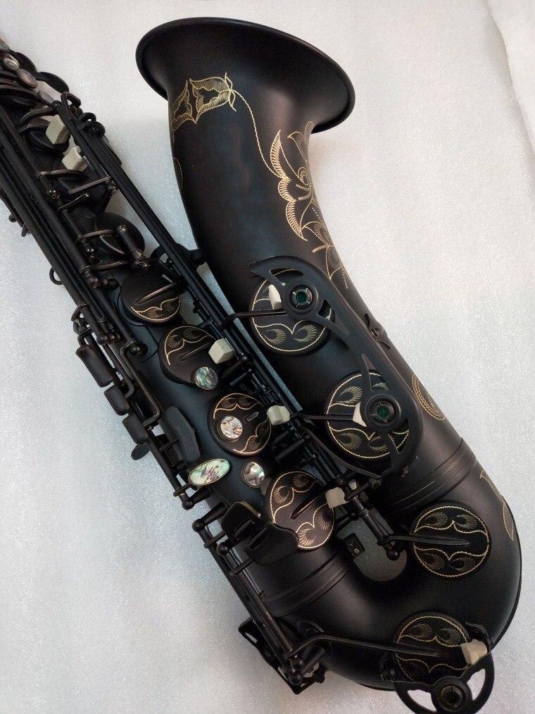Alta Qualidade STS-54 Tenor instrumento Musical Saxofone Tenor B plana tocar profissionalmente Black Nickel Saxofone Ouro Com Cana