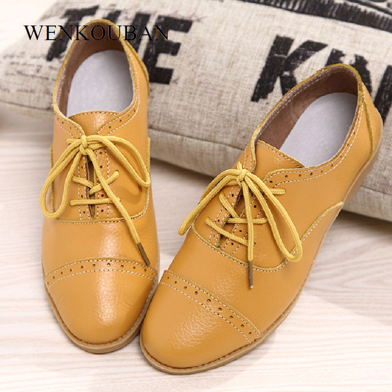 20732bc1e67 Designer Derby Shoes Women Flats Genuine Leather Female Summer Oxford Black  Flat Shoes Pointed Toe Derbies