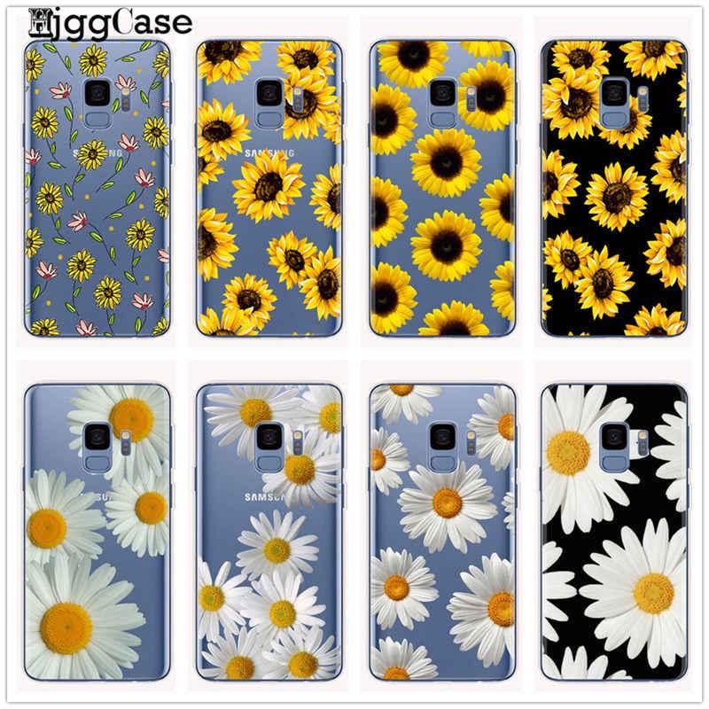 Verano margaritas girasol flor Floral teléfono funda Coque para Samsung Galaxy S8 S9 S10 Plus S10e J6 A6 A8 A5 2017 A9 A7 2018
