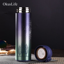 500ml Double Wall Stainless Steel Vacuum Flasks Thermos Cup Coffee Tea Milk Travel Mug Thermo Bottle Gifts With Color Design 500ml stainless steel double wall insulated thermos cup vacuum flasks water bottle thermo coffee mug quality travel