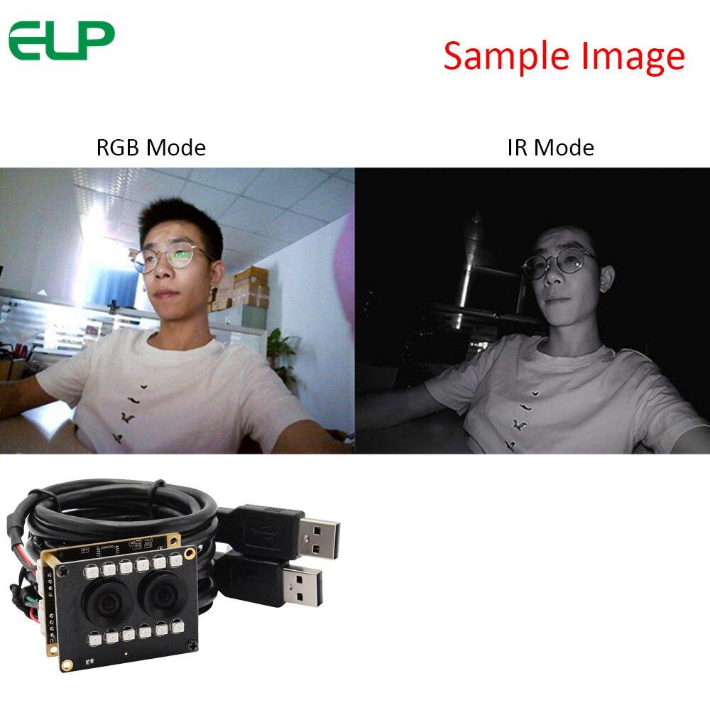 Dual lens camera with IR