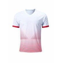 Мужские футбольные майки для взрослых мальчиков, тренировочные майки, дышащие быстросохнущие футболки для футбола, одежда для бега с коротким рукавом на заказ