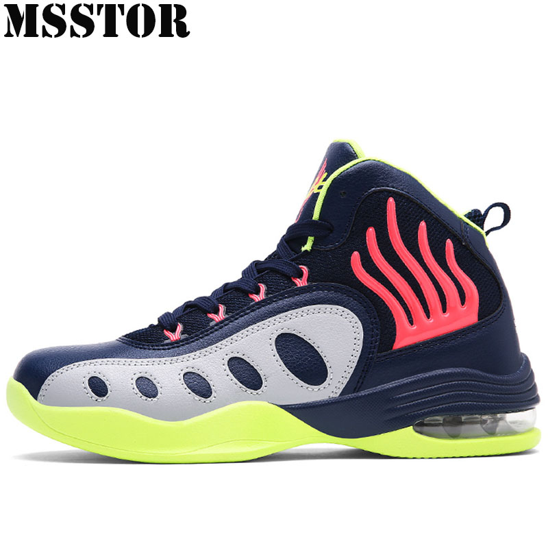 MSSTOR Spring 2018 New Men Basketball Shoes Brand Outdoor Jogging Training Boots For Male Summer Breathable Sports Men Sneakers libo breathable fitness sleeveless basketball suits for male