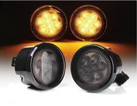 1Pair Black LED Front Fender Flares Turn Signal Light LED Side Marker Lamp For Jeep Wrangler