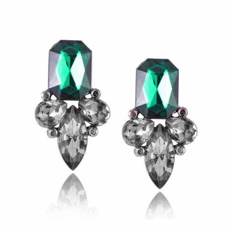 Classical Vintage Earrings For Women Irregular Crystal Earrings Pendientes Duzzling Retro Brincos Pendientes Wholesale Gifts