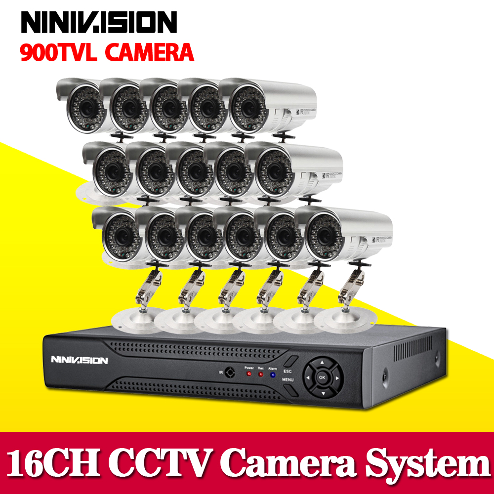 home 16ch 900tvl IR outdoor security camera with dvr kits recording cctv system video surveillance kit 16 channel hdmi 1080p 4ch cctv system 960h hdmi dvr nvr 4pcs 900tvl ir waterproof outdoor cctv camera home security system surveillance kit 4 channel