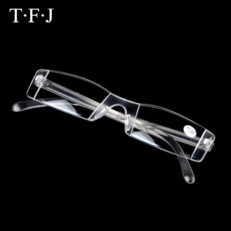 Reading Glasses Men Portable Frameless Women Rimless Transparent Magnifier Eyeglasses Lunette Loupe