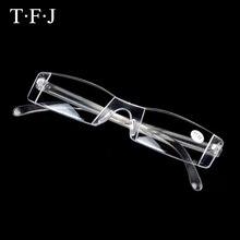 Reading Glasses Men Portable Frameless Women Rimless Transparent Magnifier Eyeglasses Lunette Loupe