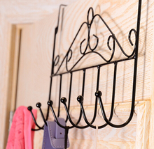 2015 Multifunction Stainless Steel Vintage Hanger Hook Over Door Coat Towel Organizer Rack  Bathroom Kitchen Holder With 7 Hooks