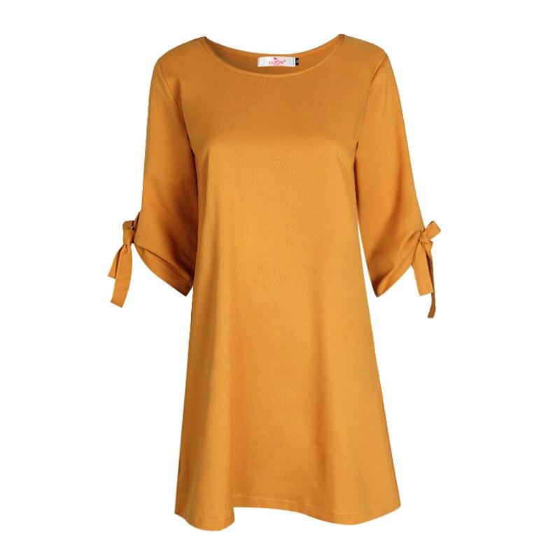 2018 Automne Robe D'été Pour Femmes Roupa Tunique Travail Robes Cravate Arc Crayon Casual Wear Vêtements Bureau Dames Robes WS1357Z