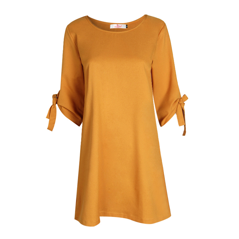 2018 otoño verano vestido para las mujeres ropa túnica Vestidos Tie arco lápiz ropa Casual desgaste Oficina damas Vestidos WS1357Z