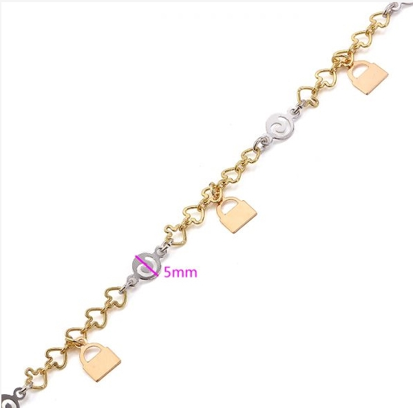 MxGxFam(220*5 мм) крошечный разноцветный браслет-шарм Женская с замком, изготовленный из сплава окружающей среды
