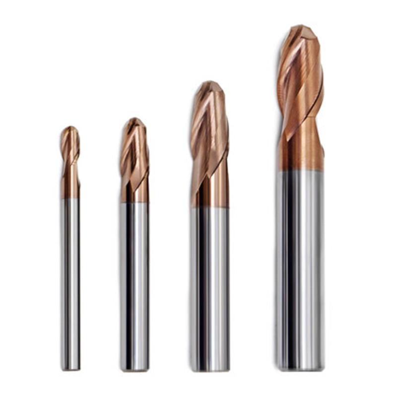 1pc 60HRC 2 Flutes Ball Nose Solid Carbide End Mills CNC Nose End Mills Convex Mill Ball Suitable For Processing Stainless Steel