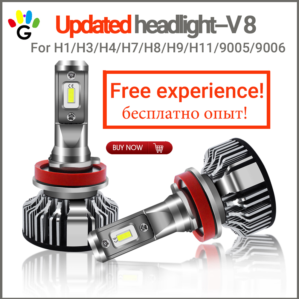 Car LED Headlight H7 H4 H1 H11 Car Bulbs Styling Updated Beam 100W 6000K 8000Lm Headlamp Fog Light Bulb DC12v 24v for Universal 72w 8000lm led headlight high beam for mitsubishi lancer or evolution x 2008 2012 car styling exterior car light source