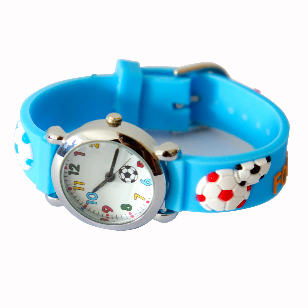 Boy's Fashion Football Kids Watch Silicone Cartoon Watches Children Soccer Boy Wristwatch Child Silicone Clock Waterproof Reloj