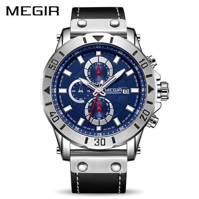 Relógio MEGIR Cronógrafo de Quartzo de Luxo