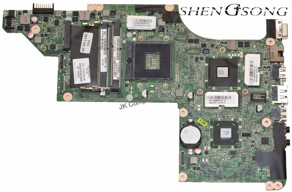 Free Shipping for HP DV6-4000 DV6t laptop motherboard 633554-001 DA0LX3MB8F0 with fully tested and warranty free shipping for hp 642754 001 8460p laptop motherboard 642754 001 8460p with fully tested and warranty