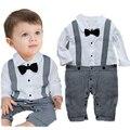 Ropa de bebé Niños Establece Manga Larga Gentleman Bebé Modelado Ropa Subir Niños Traje de 0 ~ 2 Año