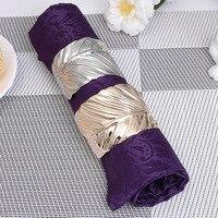 12/PCS hot style napkin buckle spot European creative metal restaurant napkin ring hotel tableware table ornaments