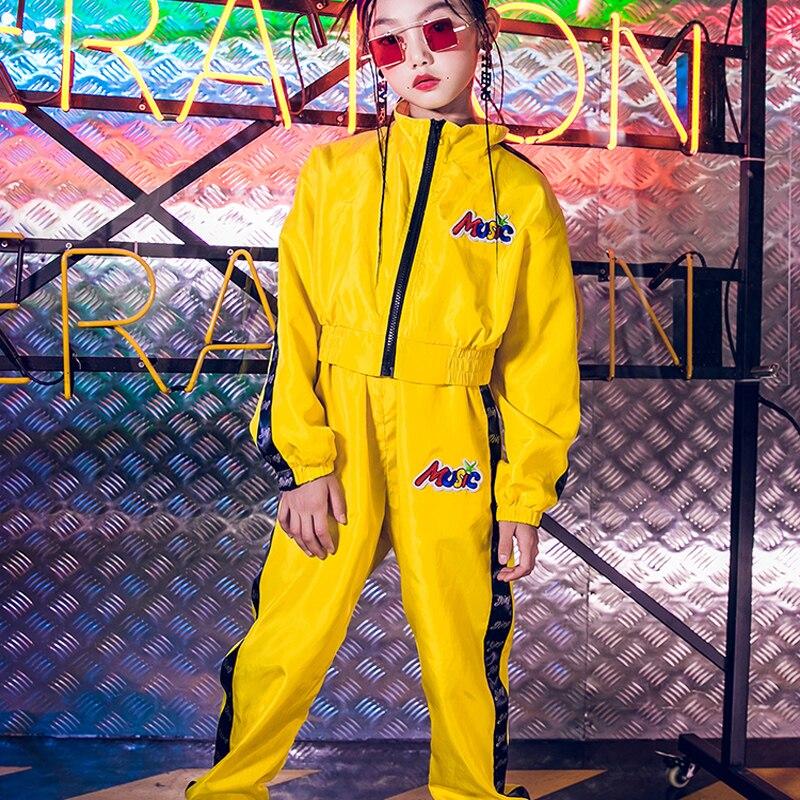 Costumes de danse Jazz enfants danse de rue Hip HoP vêtements enfants Performance danse vêtements scène spectacle porter trois couleurs DQS1056