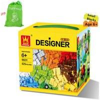 Original WANGE Brand Small Building Blocks 625pcs More Various Accessories Compatible With Leg0 Bricks Educational Toys