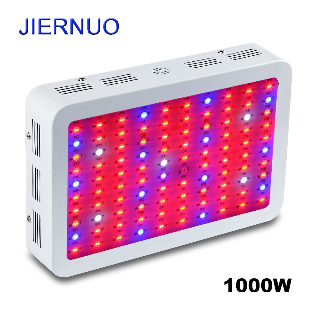 Led Grow Light 1000W Full Spectrum Double Chips 100leds*10w Grow Lamp Red/Blue/White/UV/IR for indoor plant seeding grow tent wholesale 300w high power led grow light red blue uv ir for hydroponics greenhouse grow tent 300w plant lamp free shipping