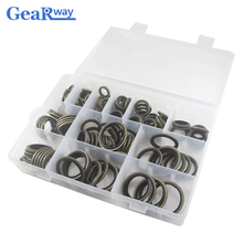 162pcs Bonded Washer Kit Gasket Metal Rubber Oil Resistance 6mm 30mm sizes Combined Washer Seal Ring Set for Replacement Repair