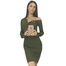 Vestidos de festa dress frauen langhülse verband mini bodycon dress cocktail ladies v-ausschnitt partei gestrickte kleider lj5745t