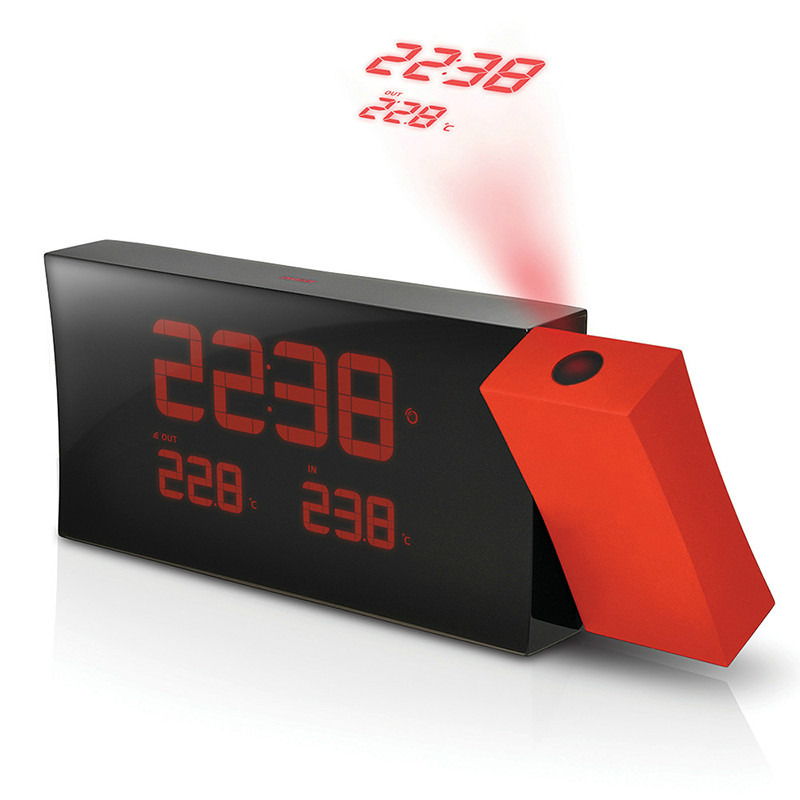 European Digital projection clock LED snooze touch sensitive backlit Digital European fashion mute luminous desktop living room