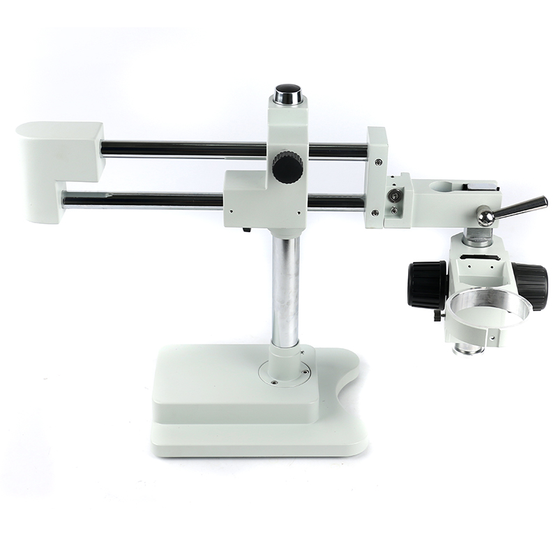 Universal Double Boom Lab Industrial Zoom Trinocular Stereo Microscope Stand Holder Bracket Arm 76mm Microscopio Accessories