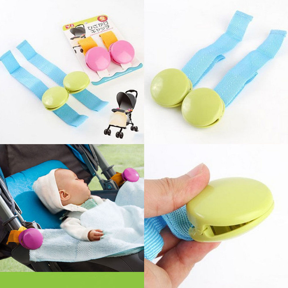 2Pcs/pack Multicolor Delicate Multifunction Holder Useful Stroller Accessory Anti Tipi Kids Care Safe Baby Blanket Clip Portable