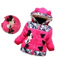 Minnie Mouse Jaqueta Infantil Casaco de Inverno Crianças Para Baixo Casaco Princesa Meninas Do Bebê Snowsuit Parkas Com Capuz Para Baixo do Revestimento do Revestimento