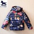 2015 Meninas Jaqueta de Inverno Casaco Impresso jaquetas para os bebés das crianças das Crianças roupas Meninas Parkas & Outerwear para 2-10Y