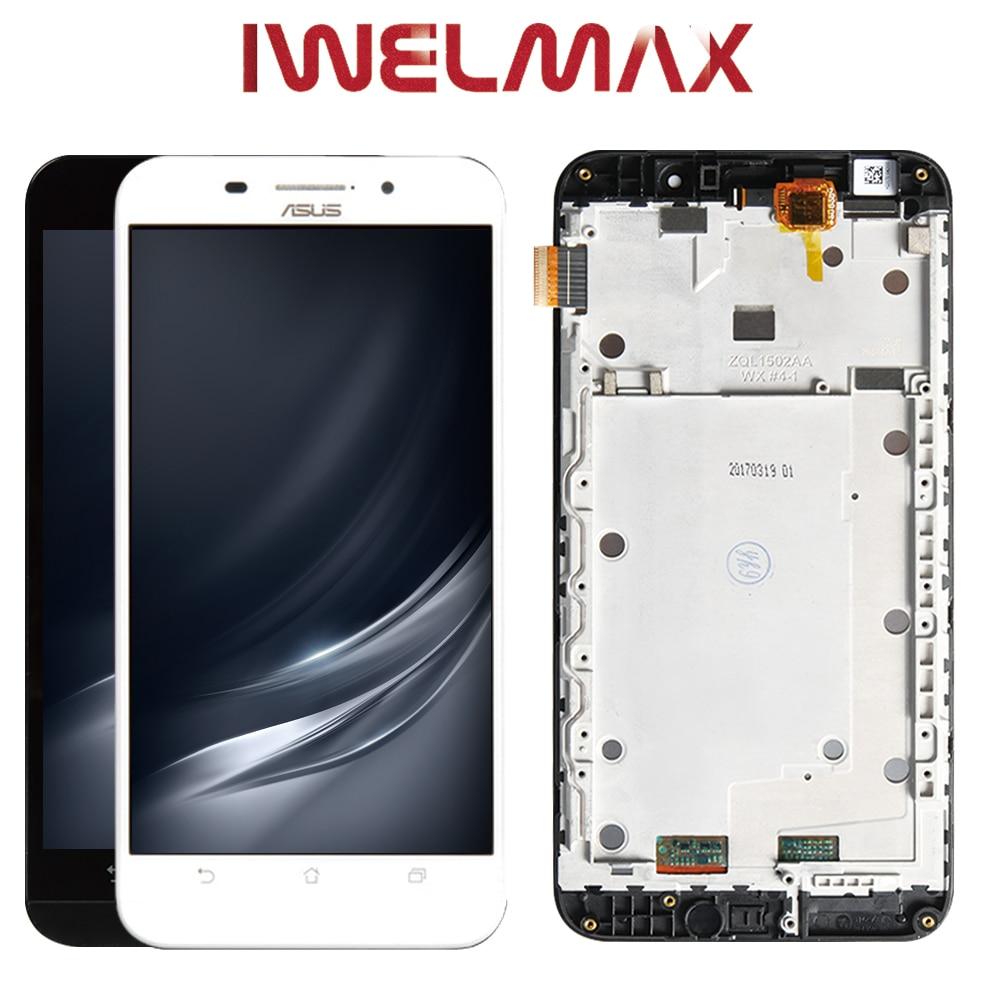 Original ASUS Zenfone Max LCD Dual SIM 4G LTE Display ASUS Zenfone Max Display Touch Screen with Framer ZC550KL Z010DA