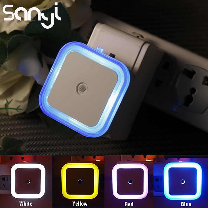 SANYI 4 Uds Mini EU/US enchufe de iluminación nocturna lámpara de cama con Sensor de luz incorporado lámpara de luz nocturna para dormitorio de bebé luz romántica